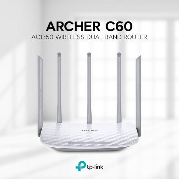 TP-Link Archer C60 AC1350 Dual Band Wireless N Router