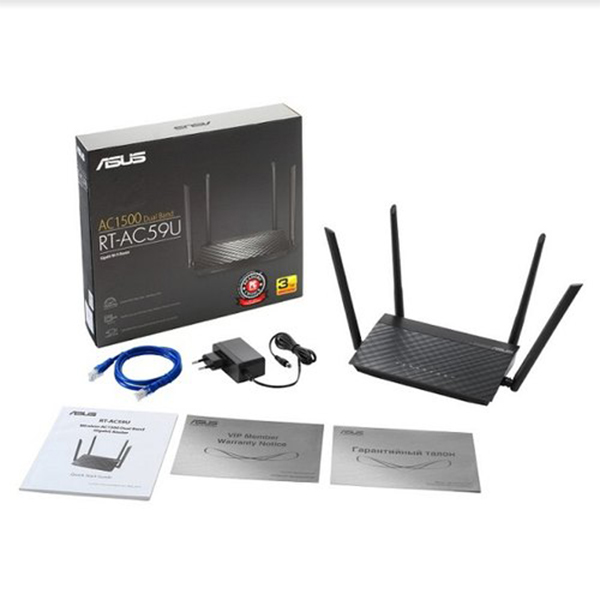 Asus RT AC59U AC1500 Dual Band WiFi Router with MU MIMO 03