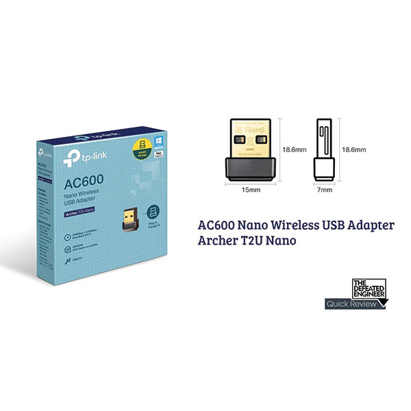 TP Link Archer T2U Nano AC600 Wireless USB Adapter 03