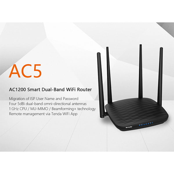 Tenda AC5 AC1200 Smart Dual Band WiFi Router 03